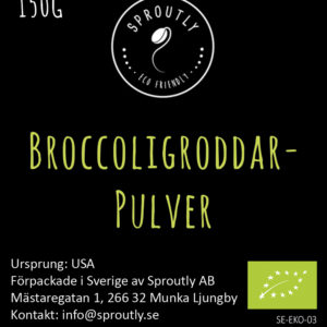 Broccoligroddar pulver EKO RAW